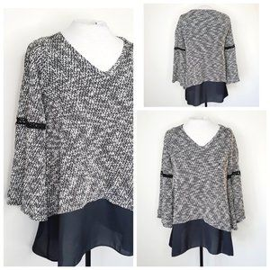 LORD & TAYLOR DESIGN LAB Bell Sleeve Sweater